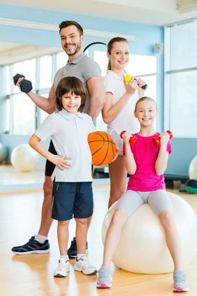 Sporty family.