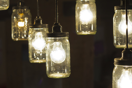 Decorative antique mason jar style light bulbs