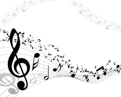 Musical background. EPS 10 vector illustration without transparency.