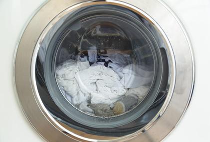 Laundy in a modern washing machine.